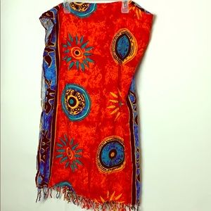 2/40 Large mexican or Mayan colourful shawl wrap